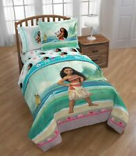 Disney Moana Kid's Bedding Twin/Full Reversible Comforter and Sham 2 Piece