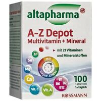21 Multivitamins & Minerals A-Z Depot GERMANY made 100 tablets food supplement