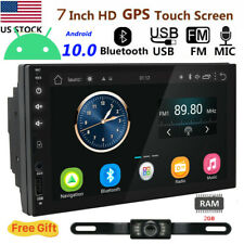 "7""2DIN Android 10.0 Car Stereo 4Core WIFI GPS Nav No DVD Player Radio SD Camera"