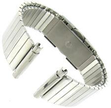 16-22mm Hirsch Stainless Twist-O-Flex Adjust. Length Faux Buckle Watch Band XL