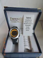 Famous Trails Atomic men's black/silver tone chronograph digital watch