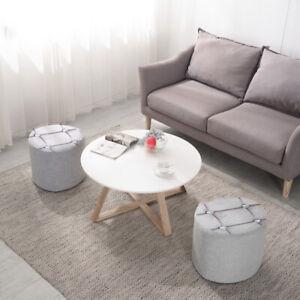 Round Crushed Velvet stool Storage Box Folding Seat Stool Silver Footrest Stool