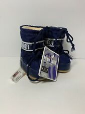 New Tecnica Moon Boot Shoes Baby Toddler 19 / 22 US 3 4 5 6 Blue Snow Boots NWT