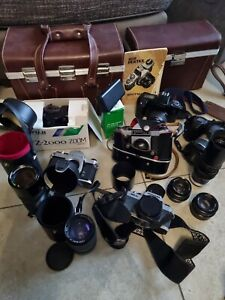 Joblot of Cameras, Lens, Cases Etc
