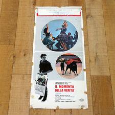IL MOMENTO DELLA VERITà locandina poster Christian Francesco Rosi Corrida AM12