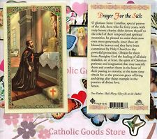St. Saint Camillus - Prayer for the Sick - Laminated  Holy Card