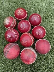 10 Adult Used (good Condition) cricket Balls