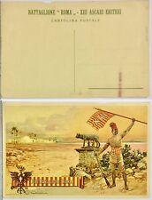 154) Cartolina XIII Battaglione Coloniale Eritreo