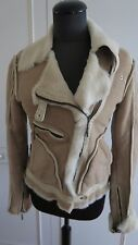 Just Cavalli Roberto Cavalli sheepskin shearling fur leather jacket coat UK8US4