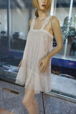 Vintage Delicate Intricate Cotton Hand Crochet Dress By Lim's White Fit S to L