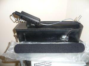 "Vintage Bell & Howell ""Gun Shot"" Microphone Original Case & Manual - Nice Item!"