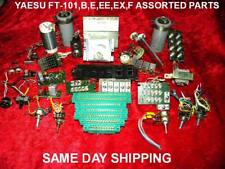 YAESU FT-101,FT-101B, FT-101E,EE ASSORTED RADIO PARTS,POTS,SWITCHES,PCB'S