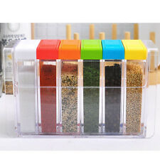 6 Color Jar Food Spice Canisters Kitchen Storage Camping Barbecue  Spice Jars