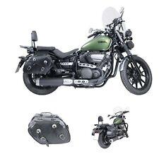 CRUIZER Coppia borse Pelle Moto Laterali universali custom guzzi harley davidson