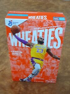 Wheaties LeBron James Empty box