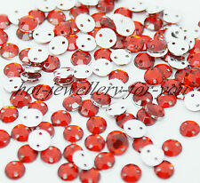 1000 Rhinestone Sew On Gem Acrylic Diamante Beads Sewing Trimming Decoration