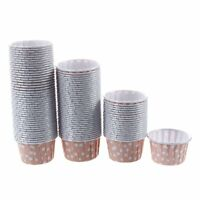 100X Cupcake Wrapper Paper Cake Case Baking Cups Liner Muffin Pink AD