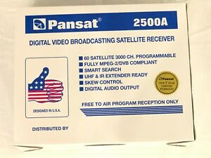 Pansat Digital Satellite Receiver 2500A Video Broadcasting Free To Air Reception