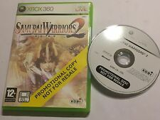 XBOX 360 FULL PROMOTIONAL GAME SAMURAI WARRIORS 2 PAL GWO Disc VGC