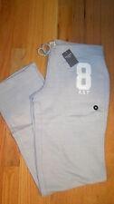 NWT Abercrombie & Fitch Women Skinny Sweatpants Logo Pants M Medium Light Grey