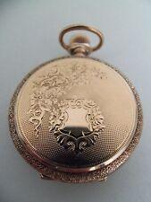 Reloj de bolsillo Waltham/colgante (14k Solid Gold Hunter caso) 1896