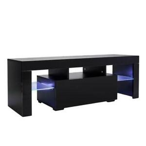 LED TV Cabinet with Single Drawer TV Stand with Storage Modern TV Stand for Livi