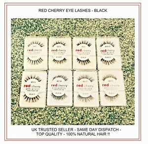 Red Cherry Eyelashes 100% Human Hair UK Free Fast Delivery Eye Lashes Top Bran