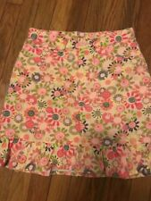 GAP Girls Size 10 Floral Denim 100% Cotton Mini Skirt Ruffled CLEAN FREE SHIP