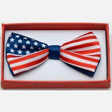 US American Flag Toddler Bow Tie for Boys Girls Child School Picture Recital IW