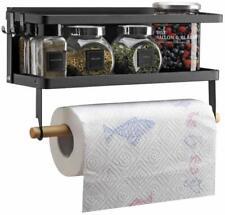 Viav Magnetic Paper Towel Holder Refrigerator Shelf Spice Rack Storage For Kitch