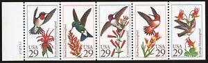U. S. Sc# 2646a,  Pane of 5, MNH - Never Folded.  Hummingbirds.