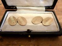 Antique Victorian 9ct Rolled Gold Oval Cufflinks