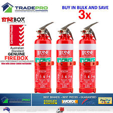 3x Fire Extinguisher 1kg ABE Professional Dry Powder 1kg &Bracket Car Boat Home