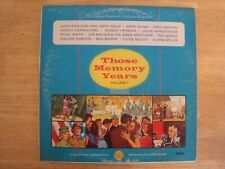 """Vinyl Lp Record """"Those Memory Years"""" Volume 1 Judy Garland Tested Good Condition"""