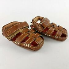 IZOD Baby Boys Faux Leather Sandals / Beach Shoes Size 1 Very Cute No Wear Marks