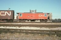 CN CANADIAN NATIONAL Railroad Caboose WINNIPEG MB Original 1974 Photo Slide