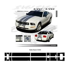 Ford Mustang 2005 to 2009 Bumper to Bumper Stripes Graphic Kit - Matte Black