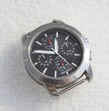 Time Force Men's 2518M Chronograph Watch Black Analog Dial No Band