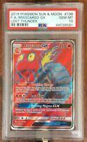 Pokemon Card  PSA 10   MAGCARGO   GX   Ultra Rare   LOST THUNDER   198/214
