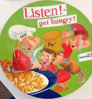 "VINTAGE Kellogg's SNAP CRACKLE POP Listen Get Hungry!  8.5"" Ceramic Plate 2005"