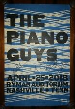 SIGNED THE PIANO GUYS Ryman HATCH SHOW PRINT Nashville Concert Poster 2018 Tour