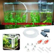 Aquarium Air Pump Accessories Fish Tank with Airline Check Pipe Air Stones L6R9