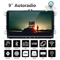 """9"""" 2 DIN Android 8.1 Autoradio Bluetooth GPS NAVI USB Pour VW GOLF 5 Polo Touran"""