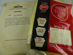 "Vintage Royal / Kingston Universal Canister Vacuum Bags 4/pack 9"" Diameter Large"