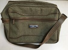 Jordache Tweed Carry On Shoulder Travel Bag Unisex   Brown And green