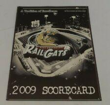 2009 Gary Southshore RailCats Baseball Scorecard Program