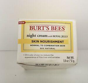 BURT'S BEES NIGHT CREAM W/ROYAL JELLY - SKIN NOURISHMENT - 1.8 OZ.
