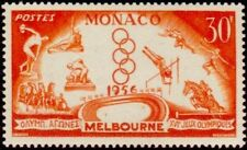 """MONACO STAMP TIMBRE 443 """"JEUX OLYMPIQUES 1956 MELBOURNE 30 F"""" NEUF x TB"""