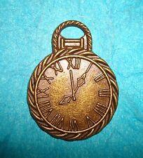 Pendant Pocket Watch Charm Bronze Clock Charm Time Piece Charm Watch Charm