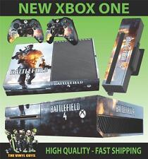 Xbox One Console Adesivo Battlefield 4 Version 2 Esercito Battaglia Aderente & 2